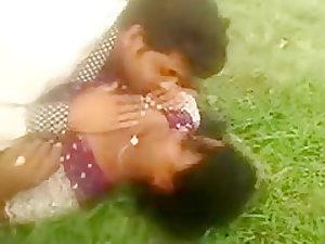 Desi Village Couple Enjoy Outdoor
