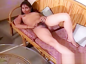 Indian Hairy Babe Fingering Pussy
