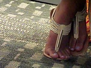 College indian sandals at library