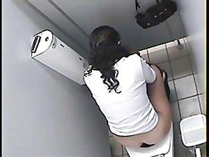 Arab girl toilet spy