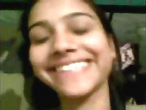 Indian Desi teen shows boobs to her boyfriend