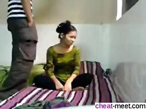 Amateur babe gets her Indian slit smashed on webcam