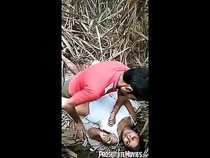 Two desi girl in jungle fuck with friends