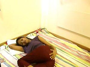 Sexy Divya striptease in bedroom